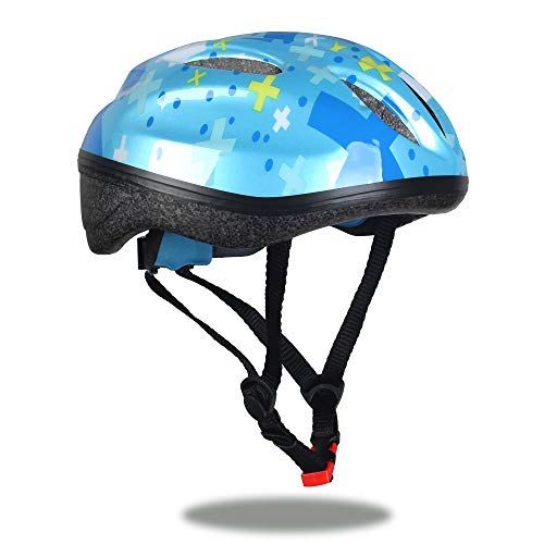 Sarik Youth Kids Bike Helmet 5-14 Years Boys and Girls Helmet with Safety Sports CPSC Impact Resistance for Cycling Skateboarding Rollerblading and Other Extreme Sports (Crux-Blue)