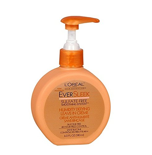 L'Oreal Paris Eversleek Sulfate-Free Smoothing System Humidity Defying Leave-In Creme (Pack of 3) by L'Oreal Paris