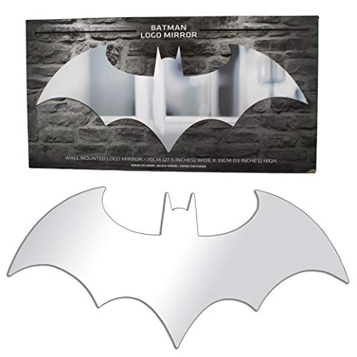 - Paladone Batman Logo Mirror Measuring 70 cm (27.5 in) x 33 cm (13 in)