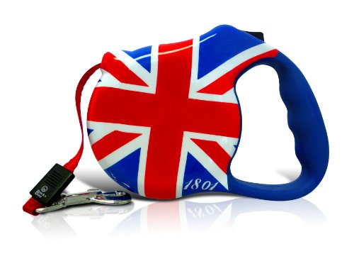 Avant Garde Retractable Dog Leash, London Calling, Medium (Dog Animal Leash Retractable)