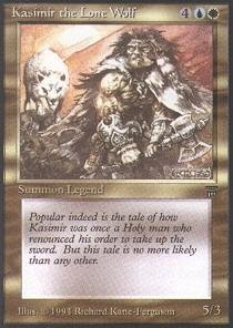 Magic: the Gathering - Kasimir the Lone Wolf - Legends