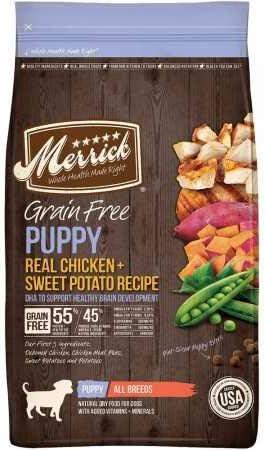 5. Merrick Grain-Free Puppy Chicken & Sweet Potato Recipe Dry Dog Food