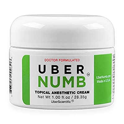 UberScientific UberNumb : : 5% Lidocaine Topical Anesthetic Cream 1 Oz, Advanced Formula, Made in USA, Rapid Absorption, Non-Oily …