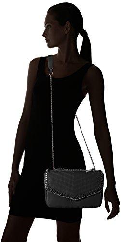 LYDC G1737 - Bolsos bandolera Mujer Negro (Black)