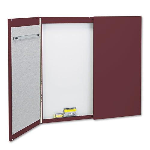 Quartet - Cabinet, Fabric/Porcelain-on-Steel, 48 x 48 x 2, Mauve/White, Mahogany Frame 878 (DMi EA