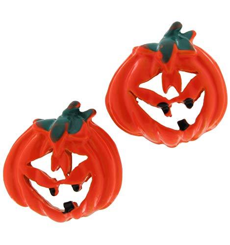 """Halloween O Lantern Earrings 1/4"""" Women Set"""