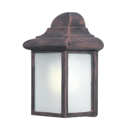 Woodbridge Lighting 60013WL-RTP Energy Saving 1-Light Outdoor Wall Sconce, Powder Coat Rust