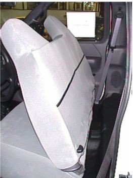 Durafit Seat Covers, 1999-2007 Ford F250-F550 Work Truck, Front Solid Bench Seat, Custom Exact Fit Seat Covers, Gray Charcoal, Industrial Strength Endura Fabric by Durafit Seat Covers (Image #1)