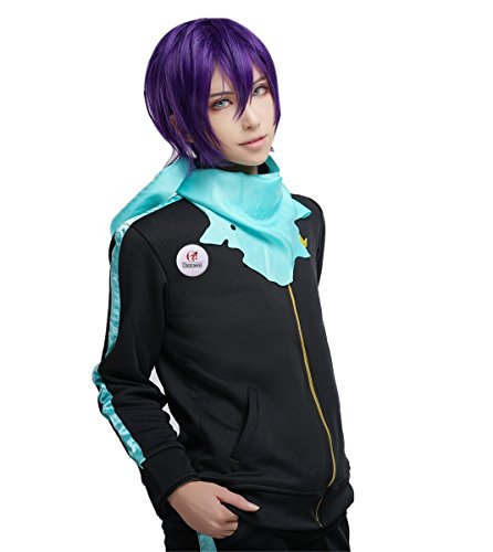 [ROLECOS Unisex Yato Cosplay Costume Anime Athletic Casual Sports Suit Black M] (Yato Cosplay Costume)