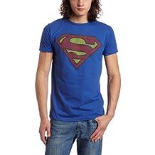 Bioworld Men's Superman Logo Tee, Royal Blue, Large