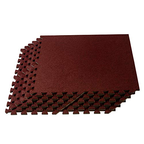 We Sell Mats Carpet Top Mat, Premium, 24 inch x 24 inch x 3/8 inch, Burgundy