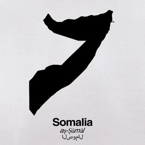 Somalia / Bundesrepublik Somalia Silhouette - Herren T-Shirt - Weiß - M