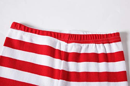 IF Pajamas Christmas Striped Santa Claus Little Girls Boys Pjs 100% Cotton  Long Sleeve Kid a409a5d2a