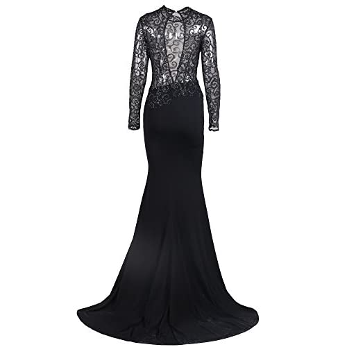 891d68f5b7 Missord Women s O Neck Long Sleeve Bodycon Maxi Dress for Prom low-cost