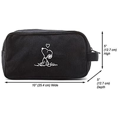Snoopy in Love Canvas Shower Kit Travel Toiletry Bag Case low-cost ... 4eec9ab02d