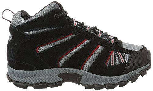 Columbia Childrens North Plains Mid Waterproof, Botas de Senderismo para Niños Gris (Grey Ash/ Mountain Red)