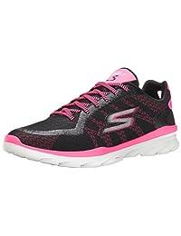 Skechers Performance Womens Go Fit 3 Walking Shoe, Black/Hot Pink, 10 M US