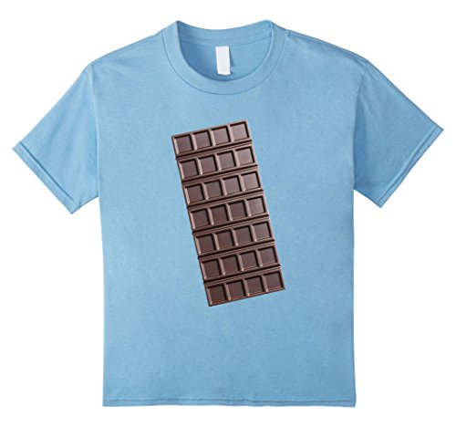 Kids Chocolate Bar Smores Halloween Costume Shirt 4 Baby Blue