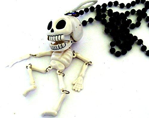 Skull Mardi Gras Beads - Human Skeleton Bones Skull Mardi Gras Beads New Orleans Bone