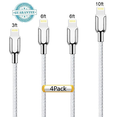 iPhone Cable 4Pack 3FT,6FT,6FT,10FT, DANTENG Extra Long Char