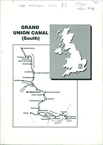 Vintage photo of Grand Union Canal Map ()