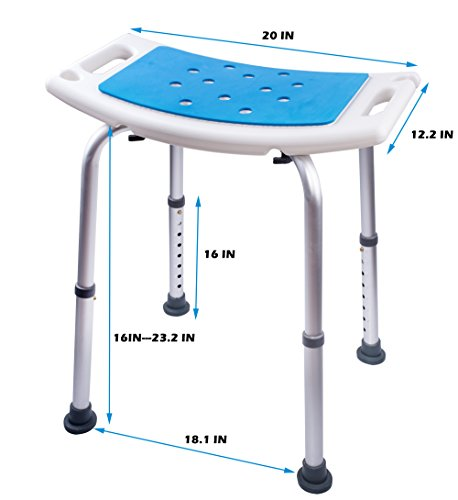 Medokare Shower Stool With Padded Seat Shower Seat For