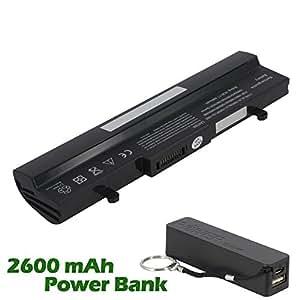 Battpit Bateria de repuesto para portátiles Asus Eee PC 1005P (4400mah / 48wh) con 2600mAh Banco de energía / batería externa (negro) para Smartphone
