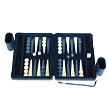 Portfolio Gammon - Magnetic Travel Backgammon Set - Blue, Small