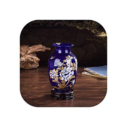 Luxury Creative Chinese Antique Porcelain Cloisonne Vase Home Decoration Crafts Ancient Palace Red Ceramic Vase Figurines Decor,Style 6 ()