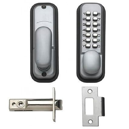 Hoppe 87128205 Arrone AR/D-195MC. Cerradura de Puerta Digital con botón