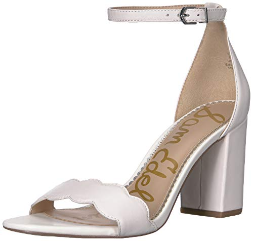 (Sam Edelman Women's Odila Sandal, Bright White Leather, 9 M US)