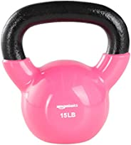 Amazon Basics Vinyl Coated Cast Iron Kettlebell Weight