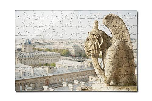 Gargoyle on Notre Dame, France Photography A-91332 (12x18 Premium Acrylic Puzzle, 130 Pieces)