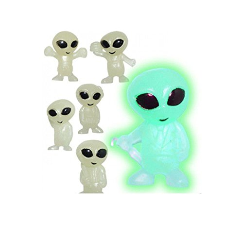 MINI GLOW IN THE DARK ALIENS FIGURES * 100 PCS -