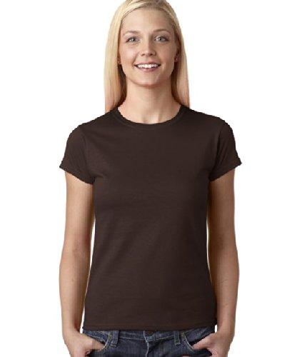 Gildan Ladies Soft Style Short Sleeve T-Shirt (XL) (Dark Chocolate)