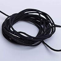Black YOKFUN Ear Adjustment Lanyard Buckle Creative Soft Plastic Silicone Round Elastic Cord Buckle Ear Mask Rope Adjuster Hardware Earloop