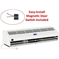"Awoco 40"" Super Power 2 Speeds 1600 CFM Indoor Air Curtain with an Easy-Install Magnetic Door Switch"