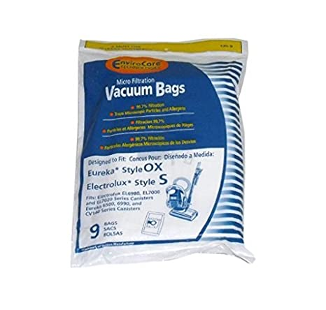 Electrolux Style S & OX Harmony Canister Envirocare 9 Vacuum Bags # 135-9 by EnviroCare