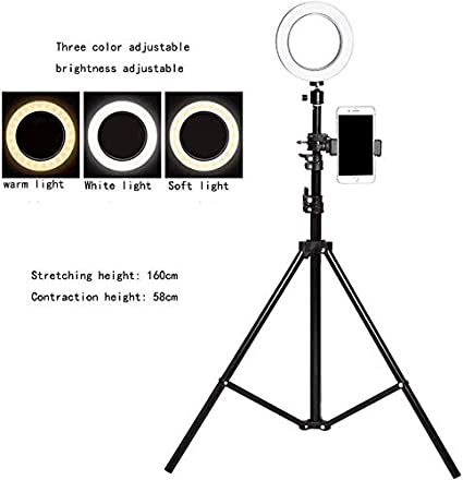 Ring Light Mobile Phone Live Bracket Tripod Shooting Desktop Self-Timer Makeup Floor Multi-Function Fill Light Outdoor Beauty Skin Care Self-Timer Photography Dimmable Thin Face Soft Light Led 0110
