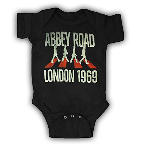 (The Beatles Abbey Road London 1969 Black Infant Baby Onesie Romper (12-18 Months))
