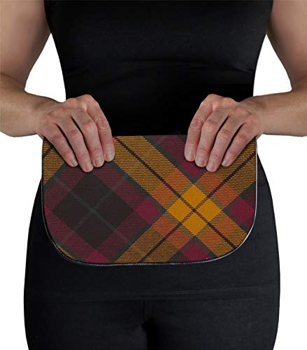 Inside Pocket Large Bag Clutch Tartan Leather Back and MacMillan with with q6Fx1qw