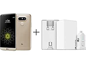 LG G5 H820 32GB GSM 4G LTE Quad-Core Phone w/ Mophie Dual USB Port High Powered 4.2A Wall Charger