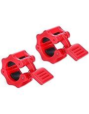 2 st 25 mm inre diameter plast säkra lås kragar klämma spänne tyngdlyftning skivstång hantel snabblåsning klämma spänne rött