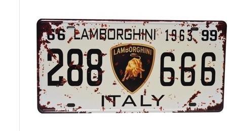 Lamborghini 288666 Italy Vintage Auto License Plate  Embossed Tag Size 6  X 12