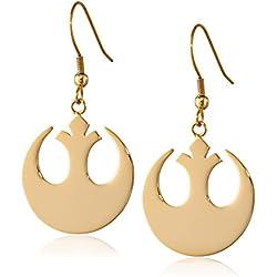 Star Wars Jewelry Rebel Alliance Gold IP Stainless Steel Dangle Hook Drop Earrings