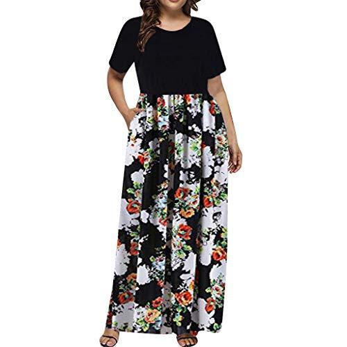 YKARITIANNA Women's Casual Sleeve O-neck Print Maxi Tank Long Dress Plus Size 2019 Summer White