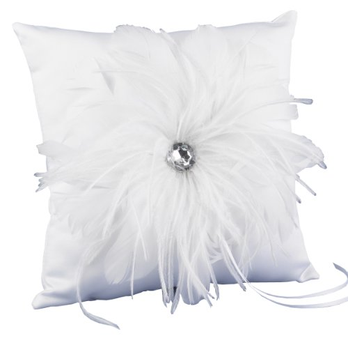 Hortense B. Hewitt Wedding Accessories Feathered Flair Ring Pillow