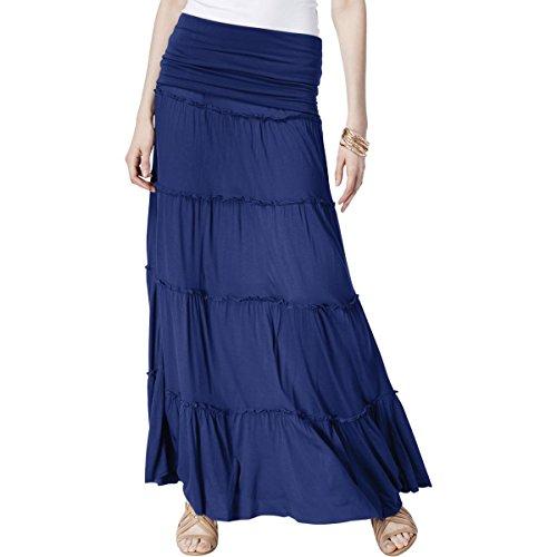 - INC Womens Convertible Dress Maxi Skirt Blue S