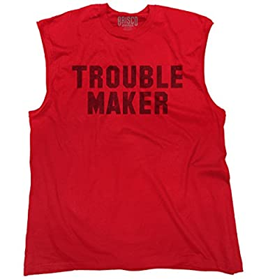 Trouble MakerFashion Rihanna Jay Z Hip Hop Skate Slogan Sleeveless T-Shirt
