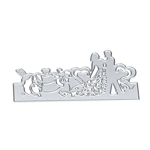 2017 Hot Sale! AMA(TM) Wedding Party Metal Cutting Dies Stencil Template Mould DIY Scrapbooking Embossing Album Paper Card Craft Decor (C) - Patriots Bookmark
